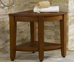 Best teak wood corner shower bench