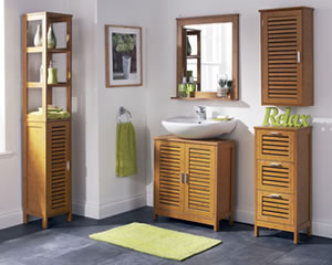 Teak bathroom furniture set