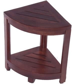 Small teak shower chair