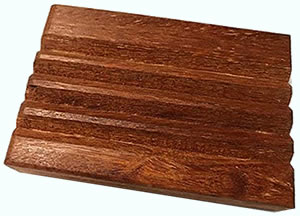 Teak wood soap dish