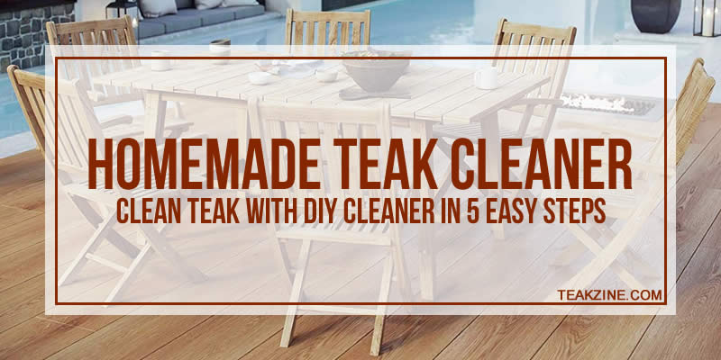DIY teak cleaner