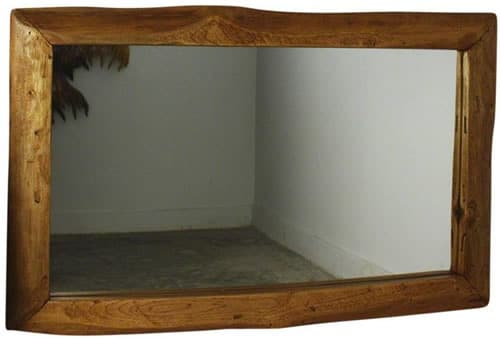 Haussmann Natural Edge Teak Wood Mirror